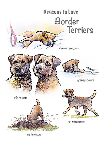 Reasons to Love Border Terriers Greetings Card