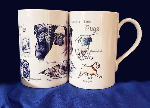 Reasons to Love Pugs Mug