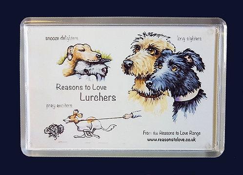 Reasons to Love Lurchers Fridge Magnet