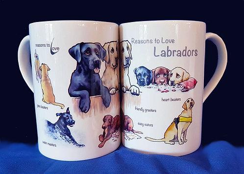 Reasons to Love Labradors Mug