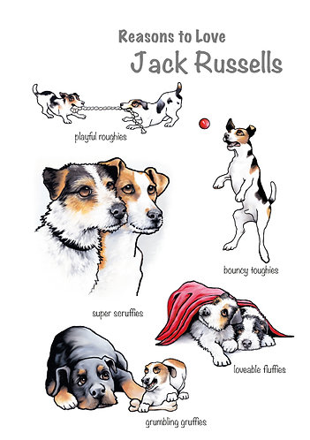 Reasons to Love Jack Russells Greetings Card