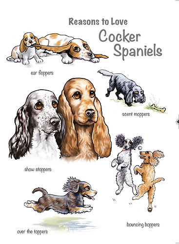 Reasons to Love Cocker Spaniels Greetings Card