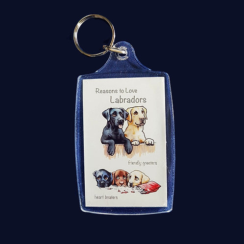 Reasons to Love Labradors Key Ring