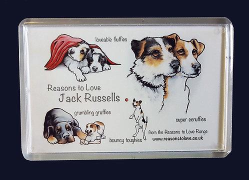 Reasons to Love Jack Russells Fridge Magnet