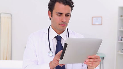 Doctor on a telemed call