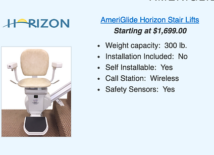 Ameriglide Horizon Stair Lift