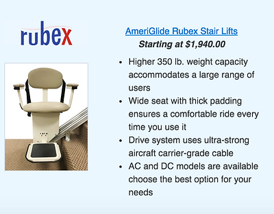 Ameriglide Rubex Stair Lifts