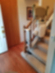 Striaght Stair Lift w/ flip up track