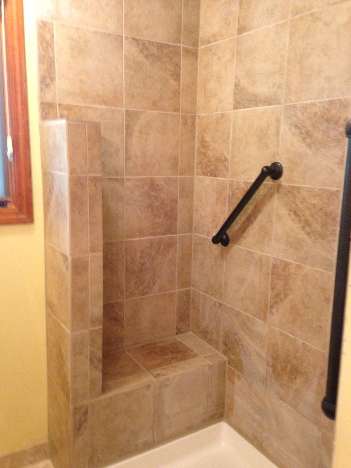 Barrier Free Shower with Ceramic