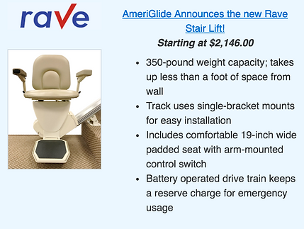 Ameriglide New Rave Stair Lift