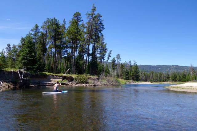 Skimming along the North Fork of the Payette River