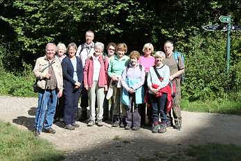 Members of the walking group in Derbyshire.