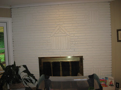 Existing Fireplace