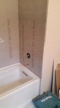 New Tub and Tile Backer