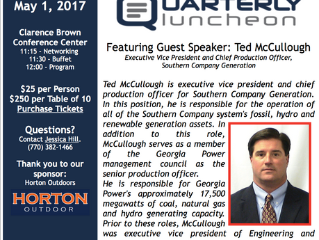 May 1st Chamber of Commerce Quarterly Luncheon to be Sponsored by Horton Outdoor