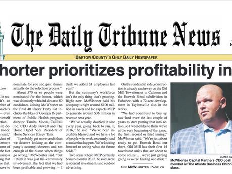 McWhorter Prioritizes Profitability in 2019