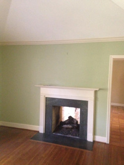 Existing Fireplace Mantle
