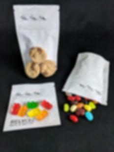 Edibles in cannabis bags