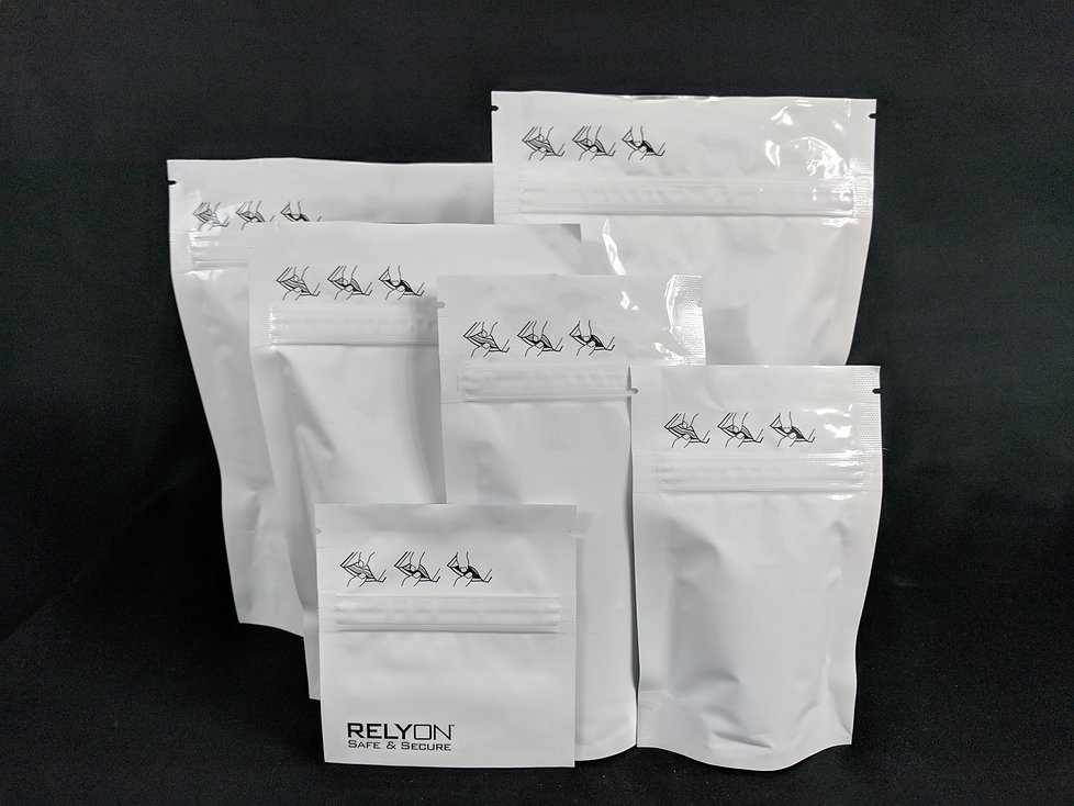 Stock Child Proof Canabis bags