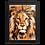 Thumbnail: Quadro Decorativo Abstrato Leão Animal de Poder
