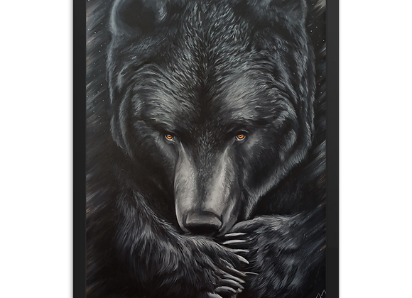 Quadro Decorativo Urso Animal de poder
