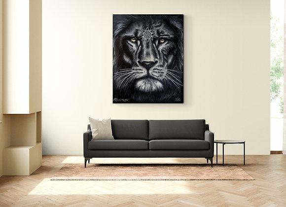 Quadro Original Leão (Guardião Solar)