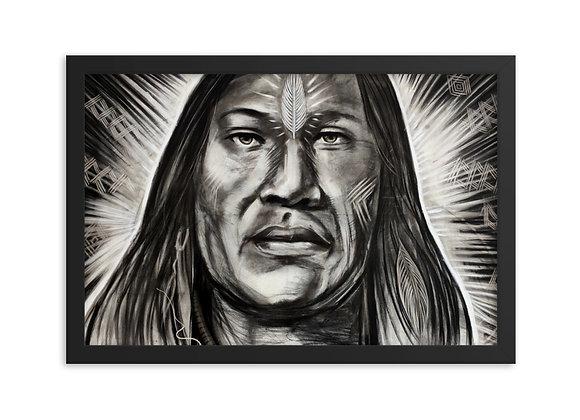 Quadro Decorativo Cacique (Indio Nativo Americano)