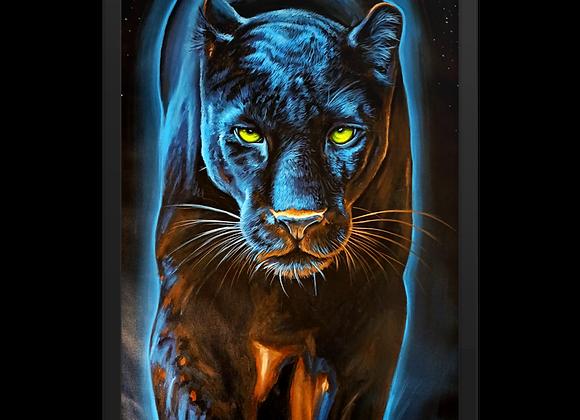 Quadro Decorativo Animal de Poder Pantera Negra Noturna