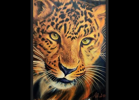 Quadro Decorativo Onça Pintada Animal de Poder
