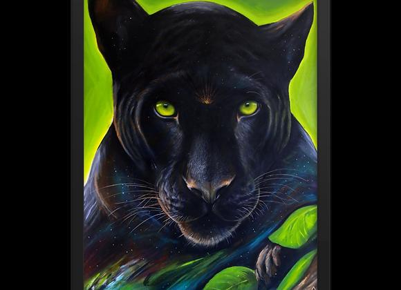 Quadro Decorativo Animal de Poder Pantera Negra