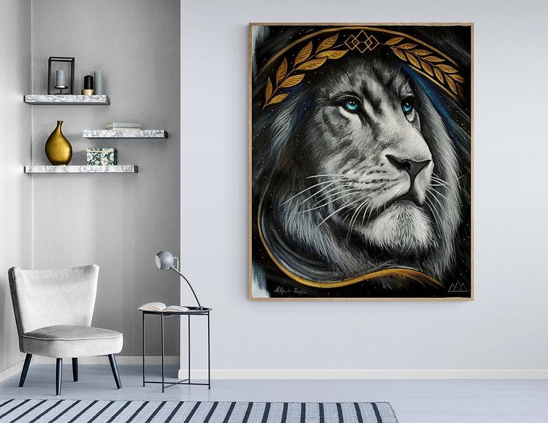 Quadro Decorativo Original Leão Animal de Poder
