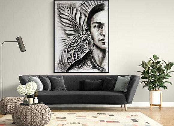 Quadro Original Frida Khalo por: Alfredo Maffei