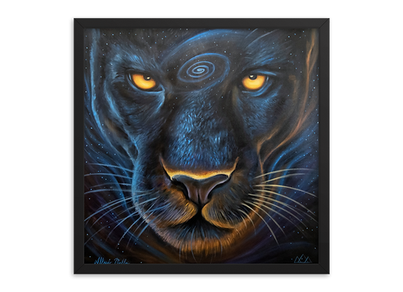 Quadro Decorativo Animal de Poder Pantera Negra Lunar