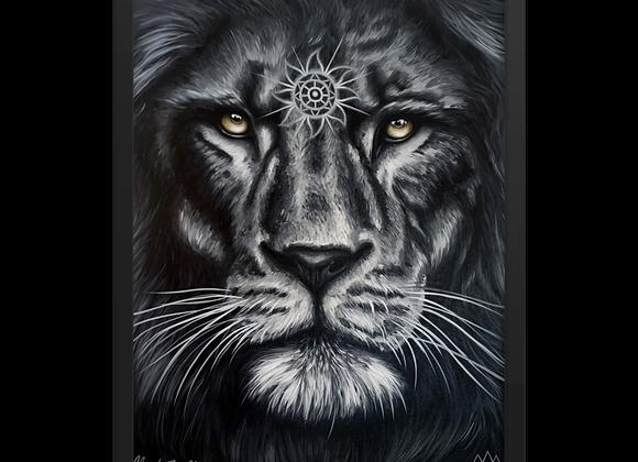 Quadro Decorativo Leão Animal de Poder