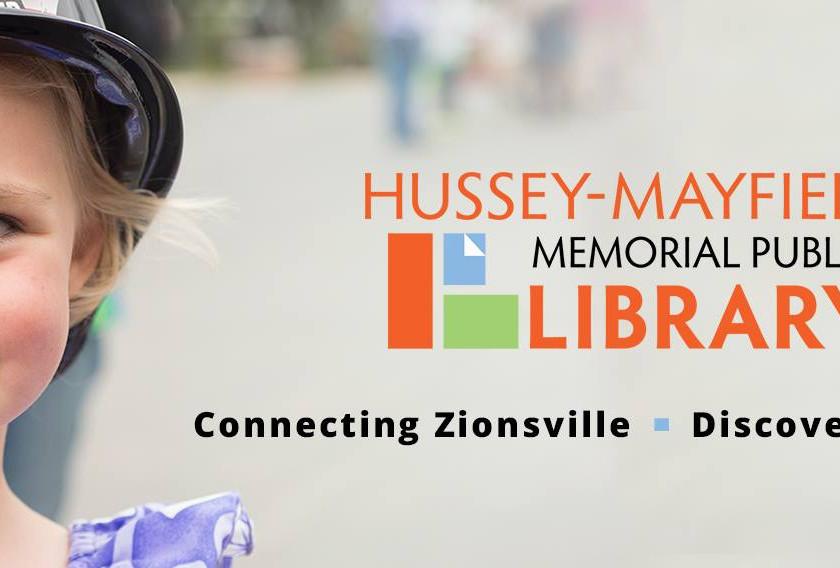 Zionsville Library w/mailbox