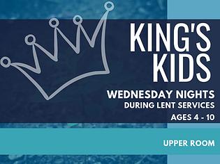 kings kids 2019 Wednesdays during lent.p