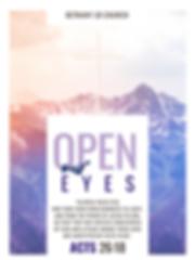 Open our eyes Sermon series 2020 bulleti