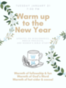 women's ministries jan 2020 warm up to t
