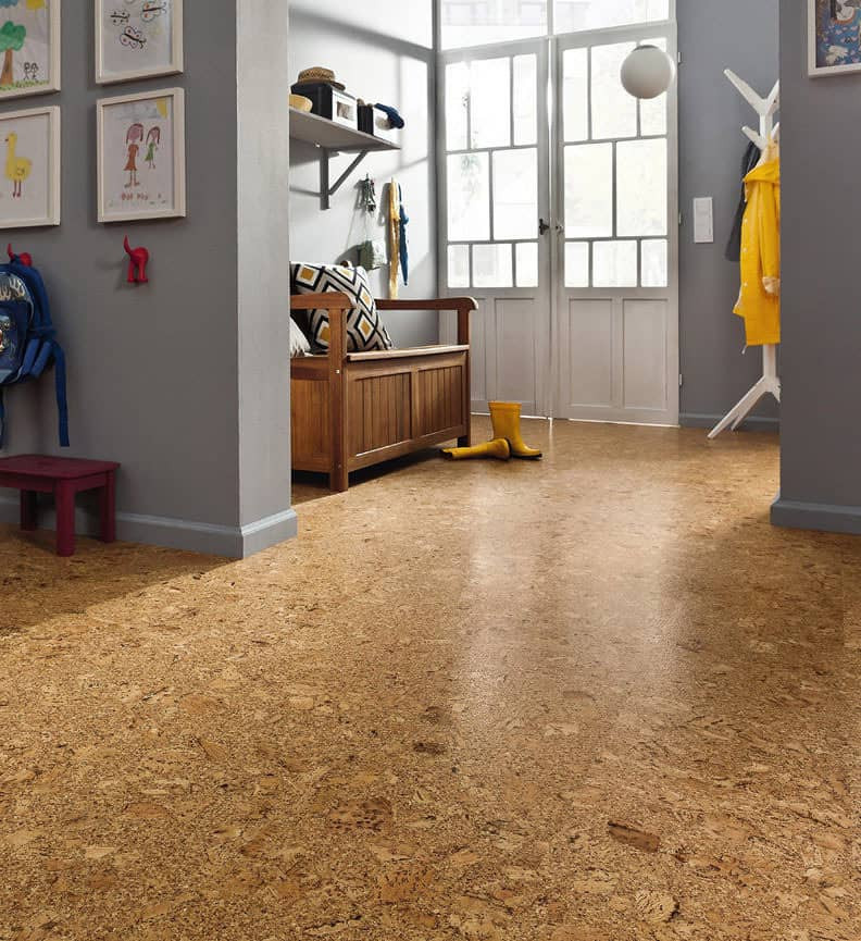 Cork flooring as a green construction material