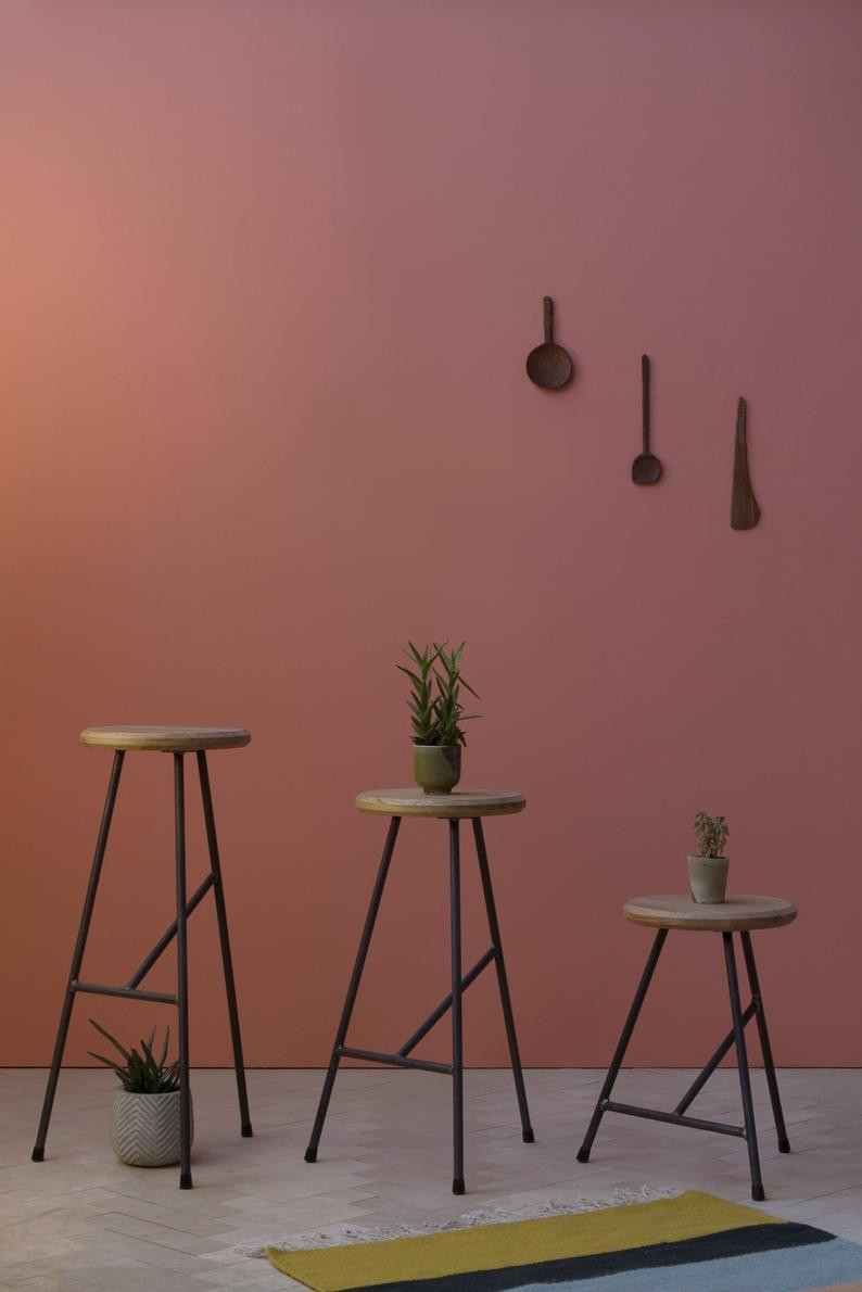 Handmade oak stool by konk on Etsy. Click on the image to shop directly from the maker.
