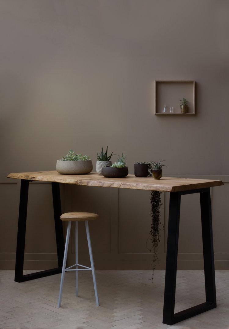 sustainable breakfast bar dark wood KONK
