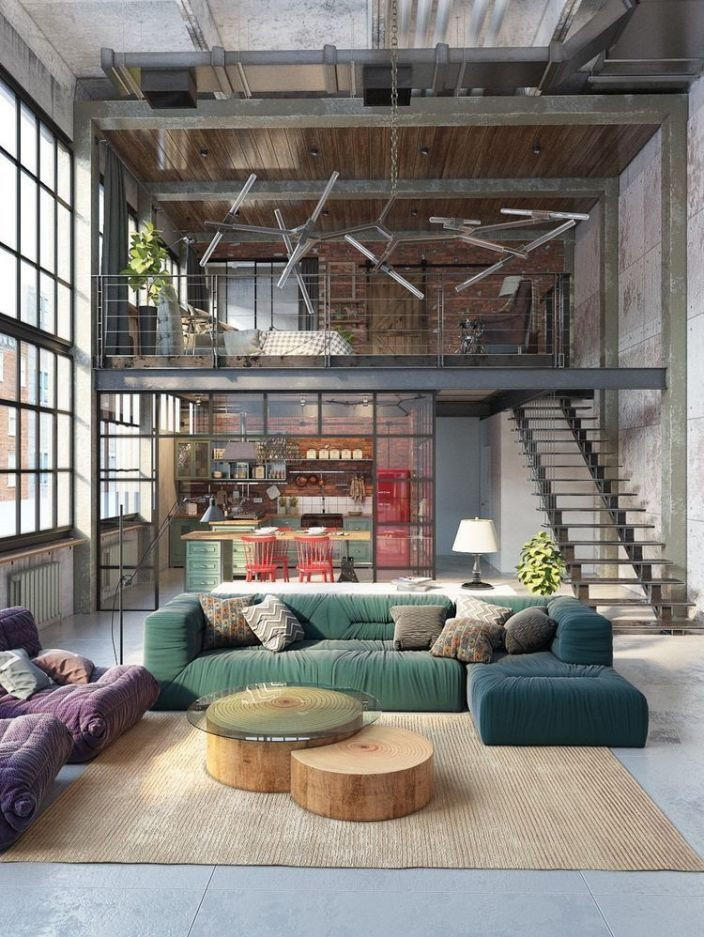 how to decorate industrial style apartment