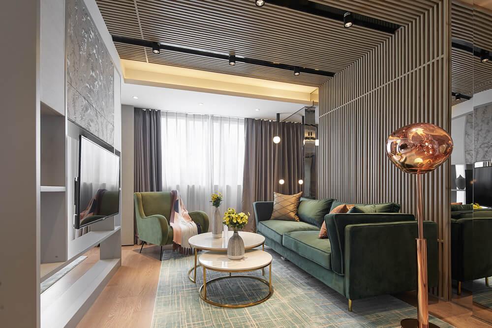 Modern minimalist living room JEMO design