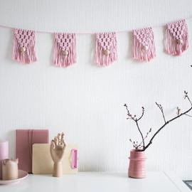 Girls nursery macrame decor