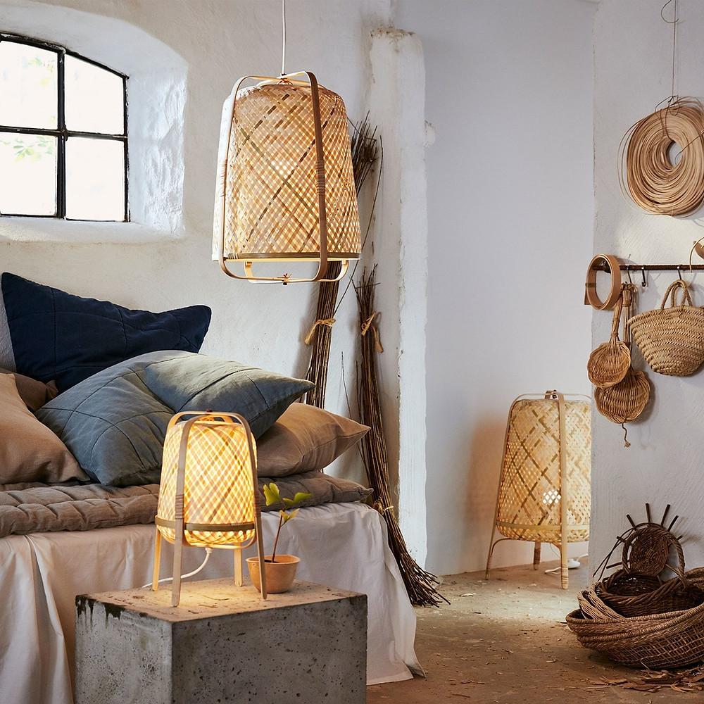 bamboo sustainable light lamps IKEA