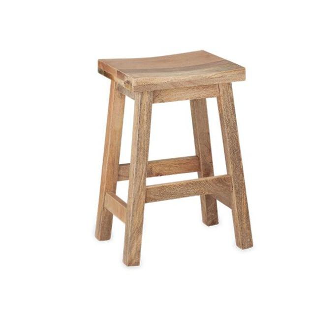 Spa bathroom decorative wooden stool