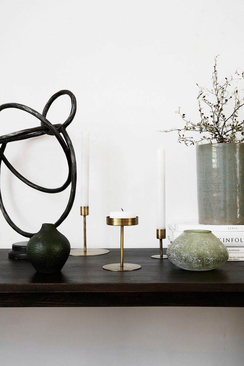 gold rustic candle stick