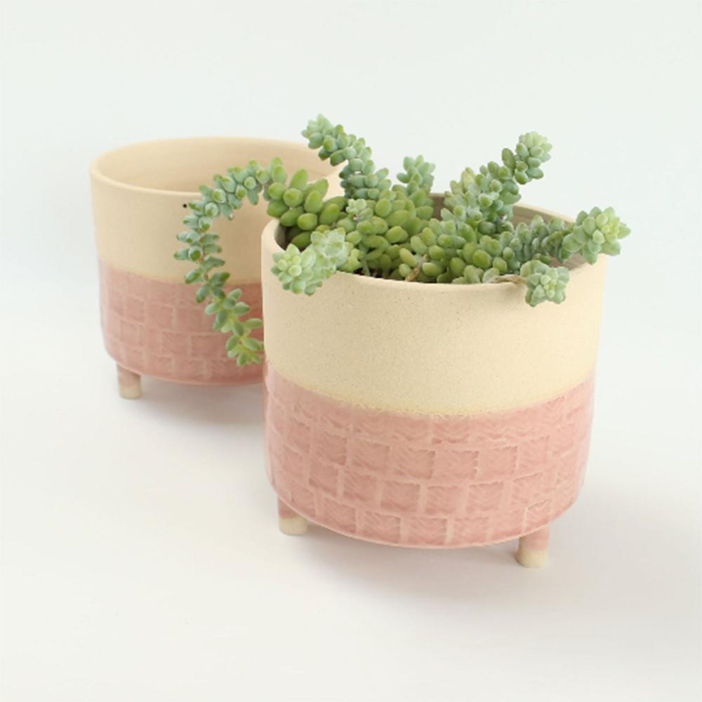 Large ceramic handmade indoor plant pot.