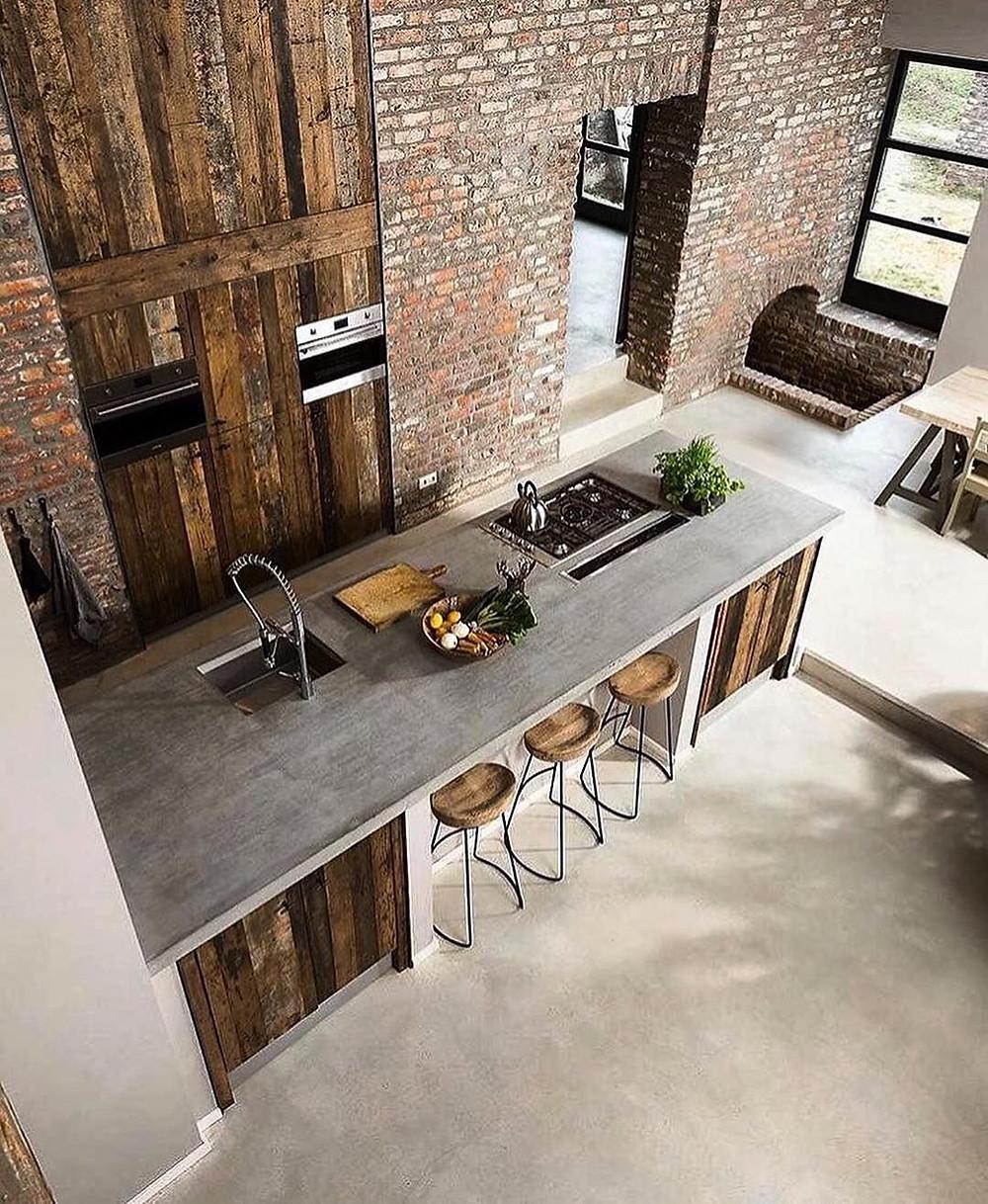 Concrete Kitchen Interior design