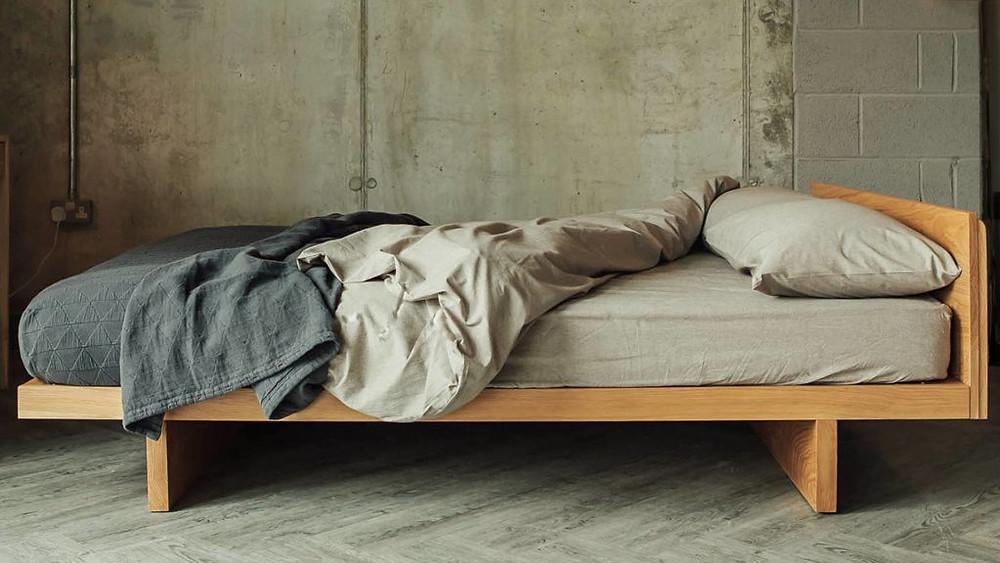Japandi style bed.